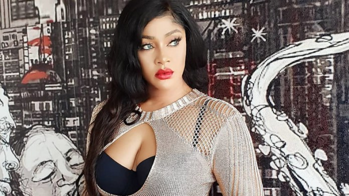 Angela Okorie has released a video where pellets from the bullets wounds she sustained during an alleged assassin attack were being removed. [Instagram/RealAngelaOkorie]
