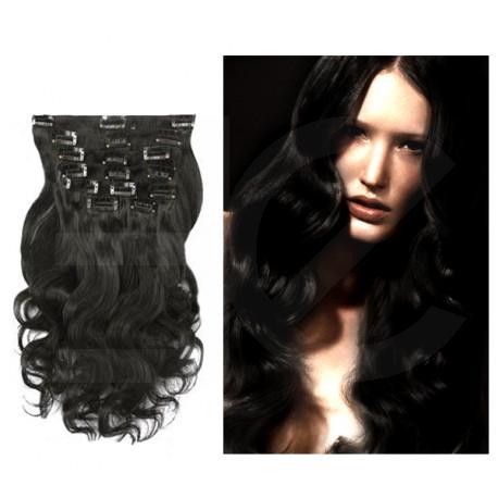 extensions a clips noires cheveux boucles 63 cm