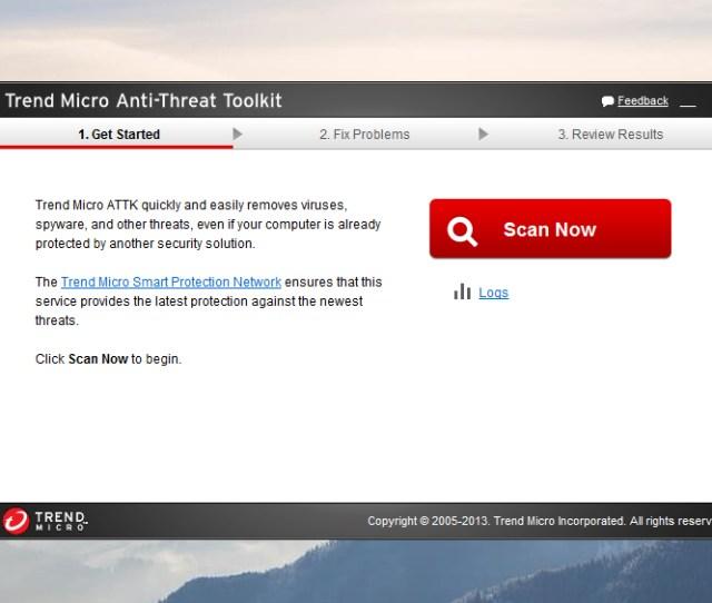 Trend Micro Anti Threat Toolkit Powerful Fake Antivirus Virus Removal Tool By Mcafee Norton