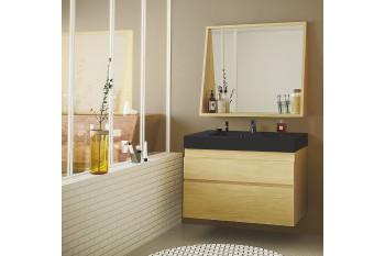 meuble de salle de bain en bois massif