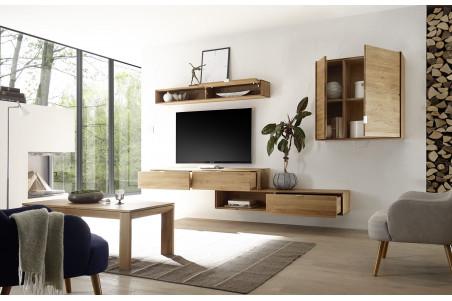 occasion etagere suspendue en bois massif finition chene naturel filigrame
