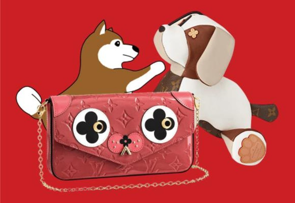 Top 10 luxury brands  heart warming Lunar New Year online campaigns     Louis Vuitton created a cartoon dog for the Chinese New Year  Photo  Louis  Vuitton