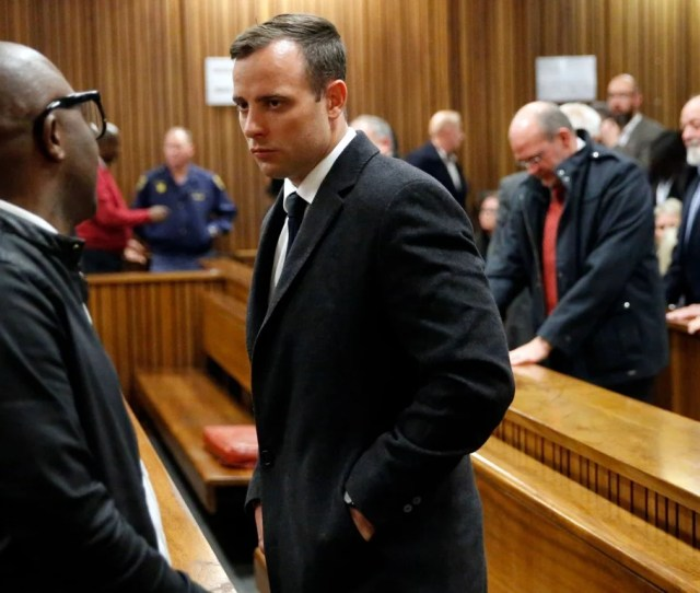 Pistorius During Is Seen In Court In  The High Court Has Rejected His Final Appeal Over The Sentence For Killing His Girlfriend In  Photo Afp