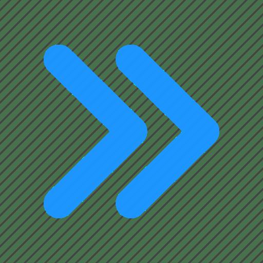 Arrow, fast forward, next button, pointer icon