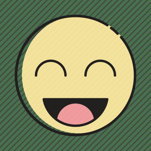 Character Face Emoticon Happy Smiley Emoji Cartoon Icon
