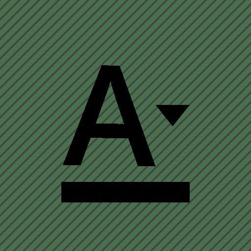 Background color, color, paint, text color, text edit icon