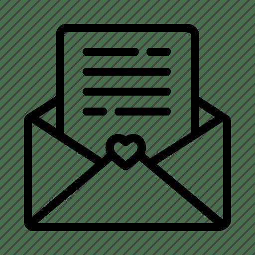 envelope heart invitation letter mail paper sheet wedding icon download on iconfinder