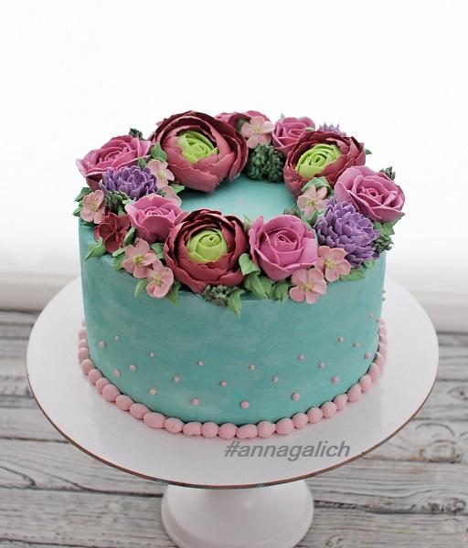 Кремовый торт для женщины. малазийская техника. - запись ...