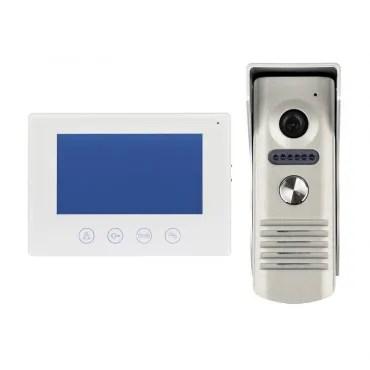 Videocitofono Cablato con Telecamera Bianco