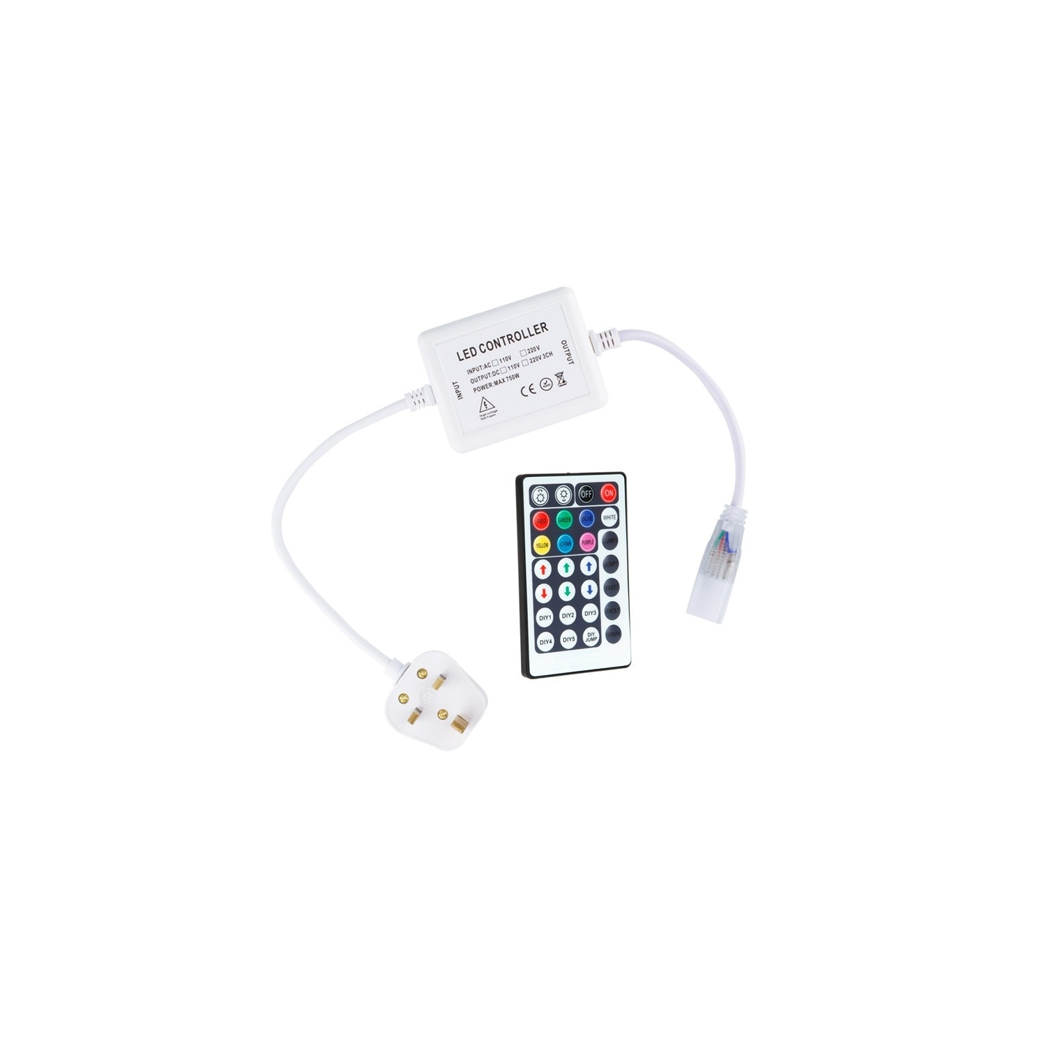 Controller For A 220v Rgb Led Strip Rf Remote Control