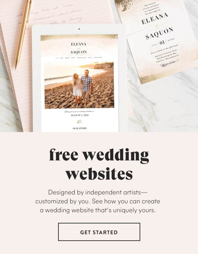 What Is A Wedding Website Minted
