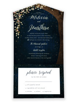 All In One Modern Glam New Years Eve Wedding Invitations