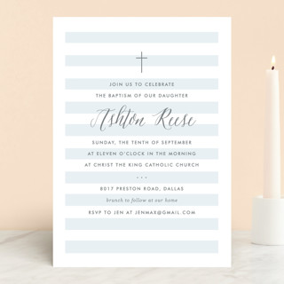 Sleek Baptism & Christening Announcements