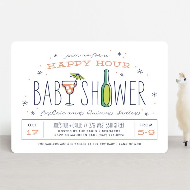 Hy Hour Baby Shower Invitations By