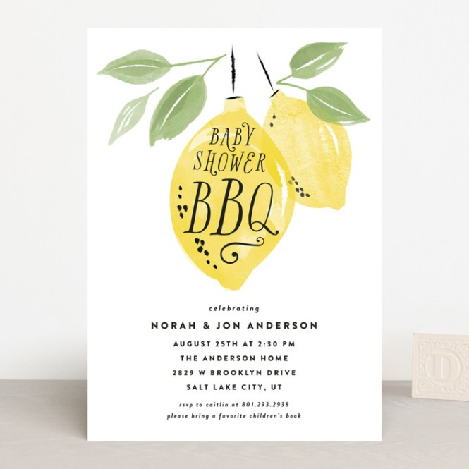 Baby Shower Bbq Invitations