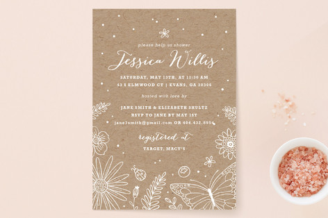 Spring bridal shower invitations papercuts invitation design wildflowers bridal shower invitations filmwisefo