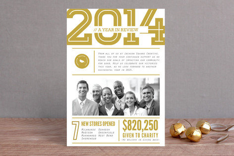 Company Year In Review Business Holiday Cards By V Minted