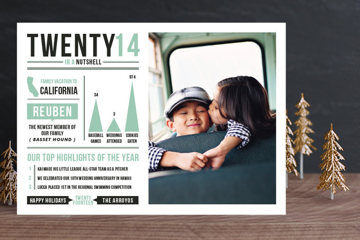 Year in a Nutshell Photo Card from Minted.com