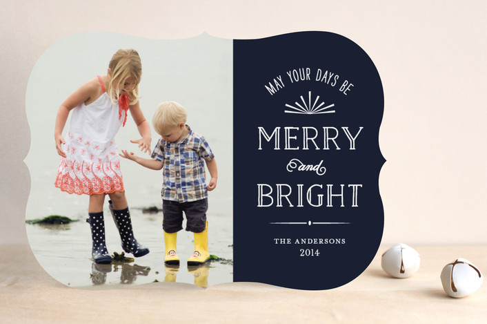 Bright Days Christmas Card by Minted.com