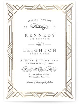 Art Deco Gatsby Invitations