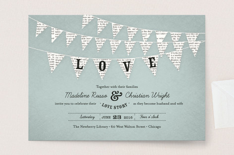 Delightful Love Story Wedding Invitations