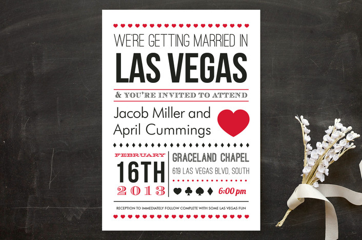 Las Vegas Wedding Invitation Wording  How To Make Invitations On Word