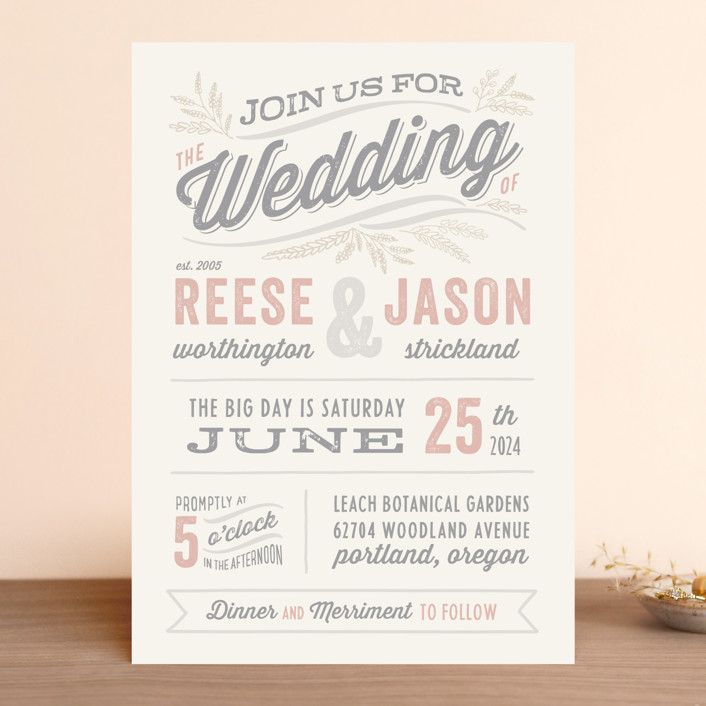Beau Humorous And Funny Wedding Invitation Wording