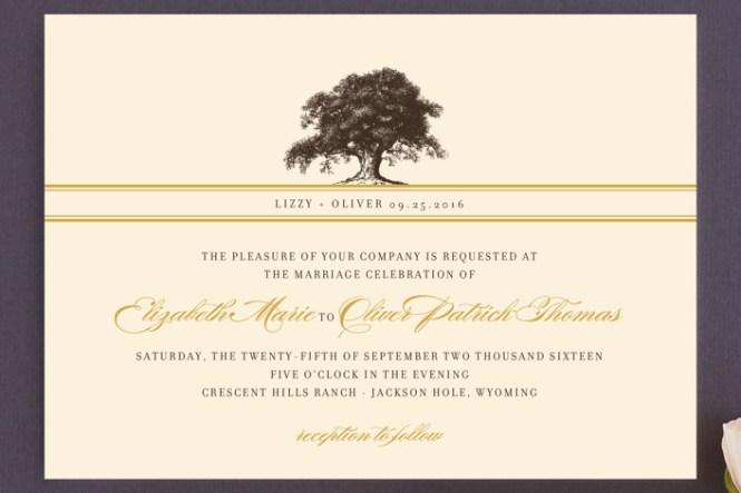 Nature Inspired Wedding Invitation