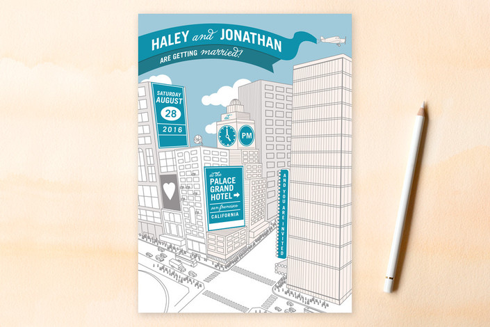 Citywide Declaration Wedding Invitations