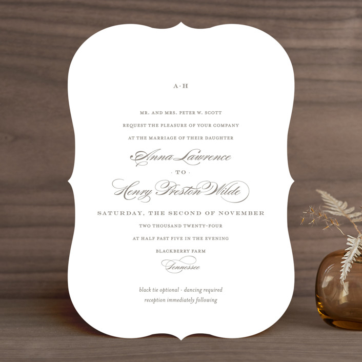 Field Simple Elegant Wedding Invitations In Ash By Toast