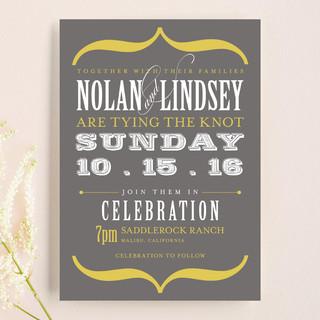Bold Brackets Wedding Invitations