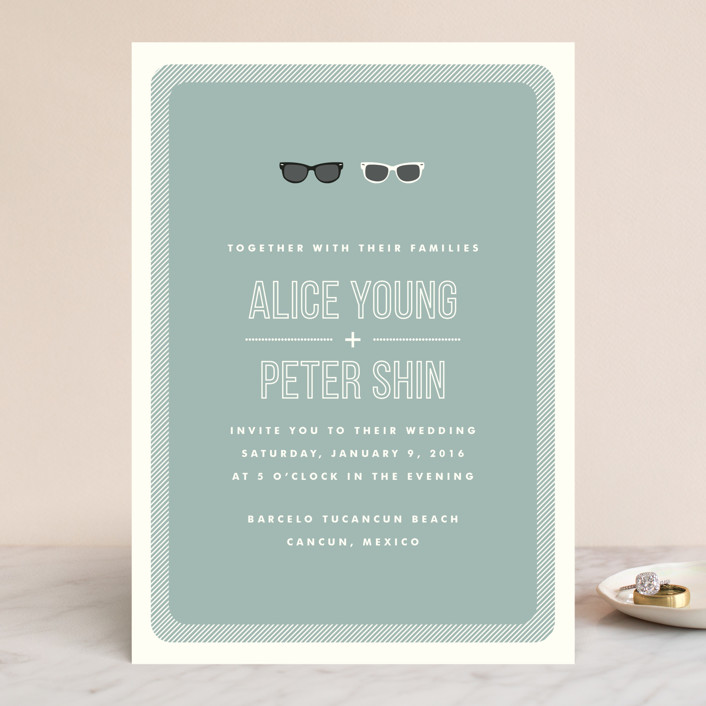 Shades Wedding Invitations