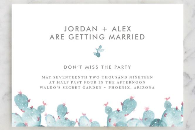 Periwinkle Wedding Invitations