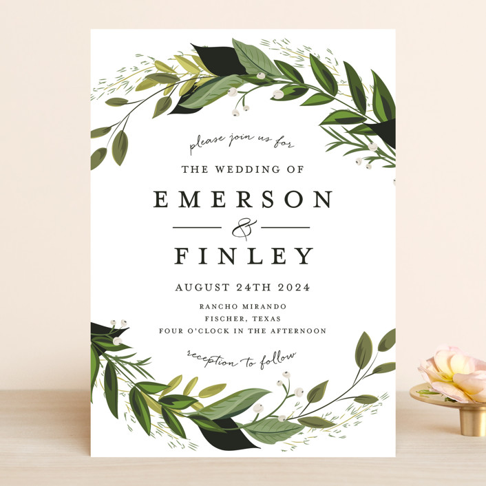 Vines Of Green Wedding Invitations In Fern By Susan Moyal