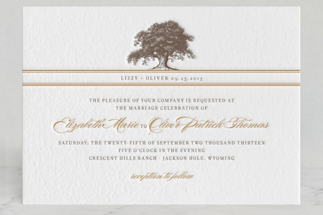 Tree Wedding Invites How To Make Your Own Invitations Using Word 8