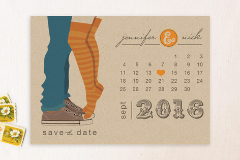 Tiptoe Kiss Save the Date Cards