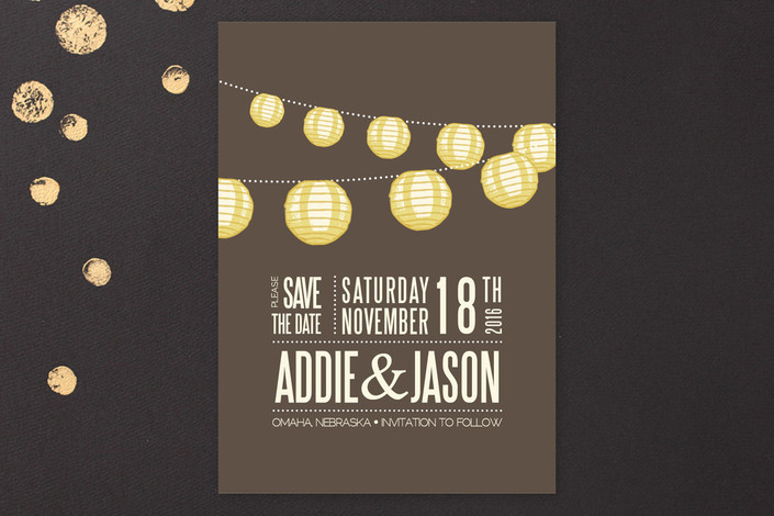 Paper Lantern Save the Date Cards
