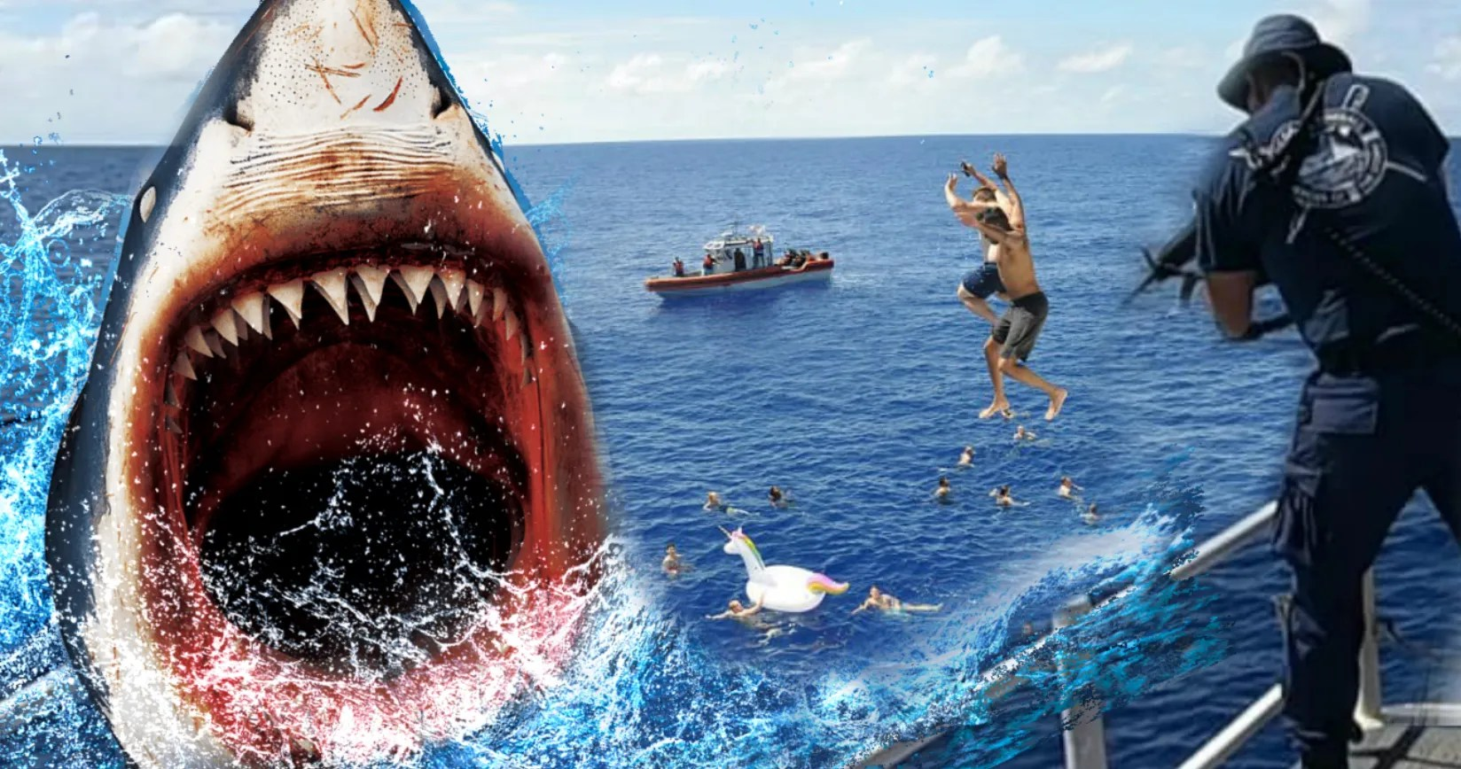 Real-life 'Jaws' Stalks Swimmers, Gets Shot at by the Coast Guard