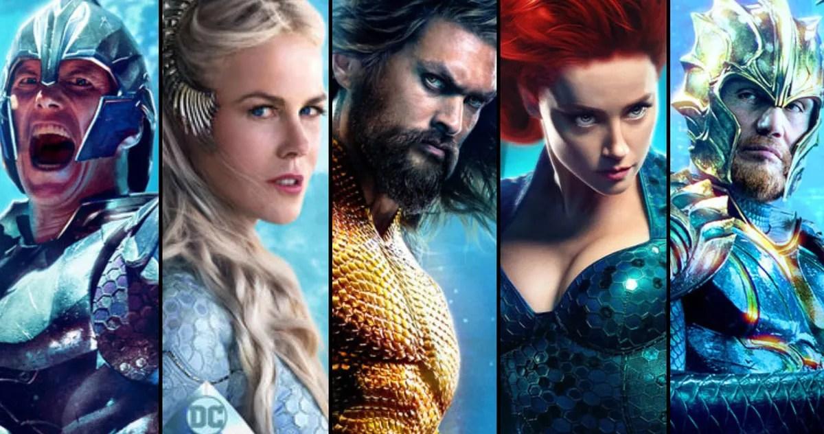 Aquaman Character Posters Arrive as Global Tour Heats Up