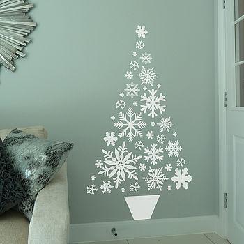 Snowflake Christmas Tree Wall Sticker