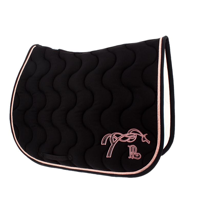 tapis de selle classique noir rose gold