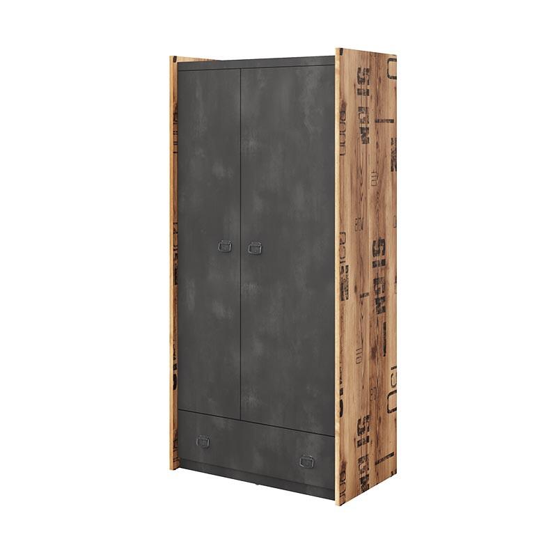 armoire 2 portes fargo pour chambre adolescent industrielle