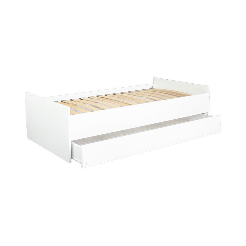 lit junior lio 160x80 blanc avec tiroir pour chambre enfant