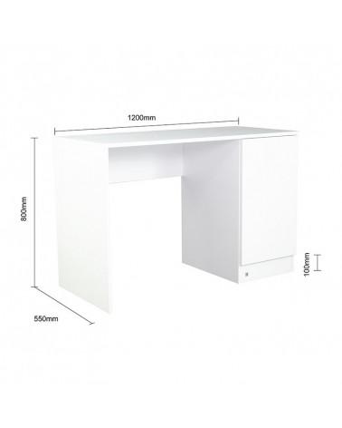 bureau blanc pour enfant lio largeur 120cm