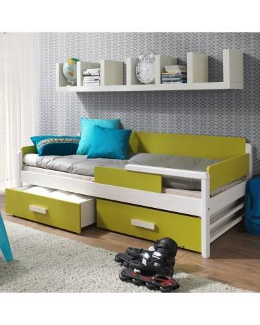 lit enfant terreo blanc et vert 10 tailles
