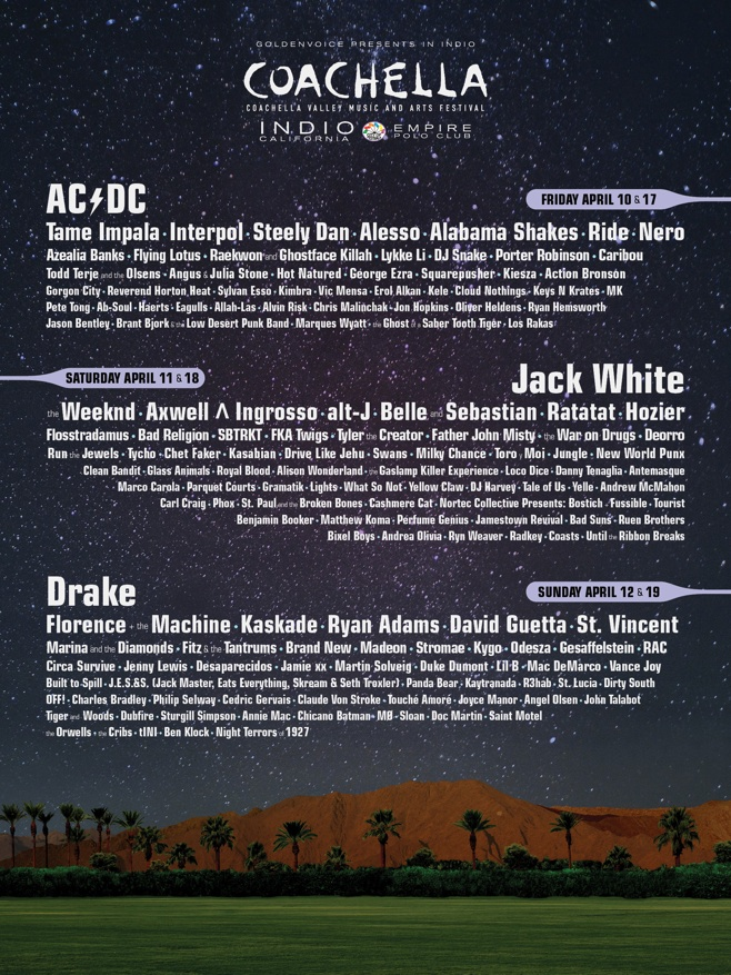 Coachella 2015 Lineup Announced
