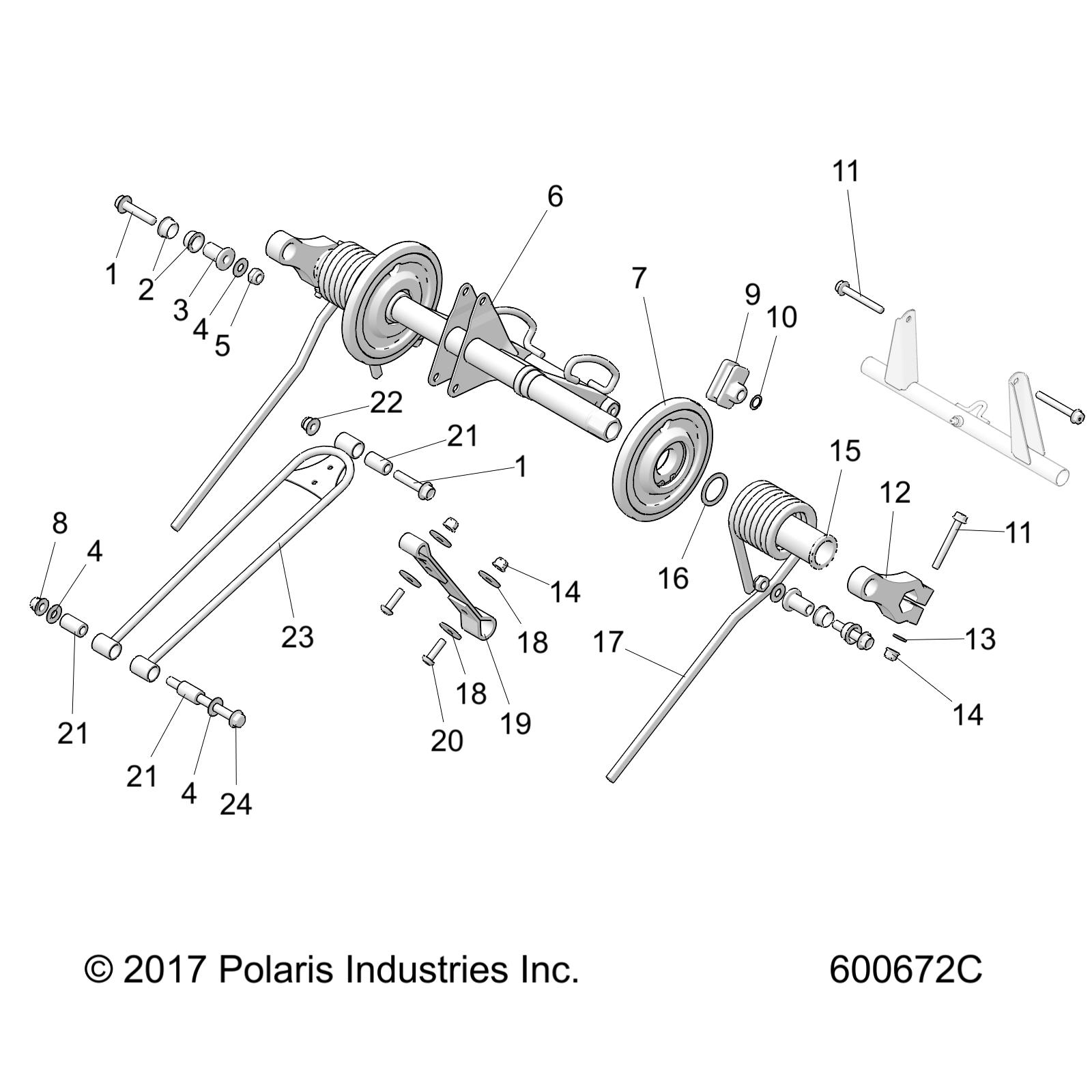 Polaris Arm Torque Rear Black 329 New Oem