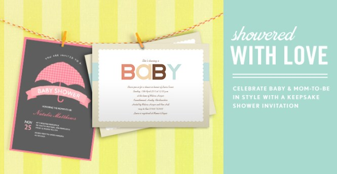 Photo Baby Shower Invitations Simply