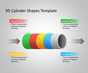 Free 3d Cylinder Powerpoint Shapes Template