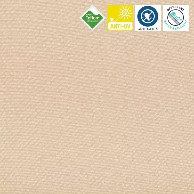 toile exterieure teflon grande largeur sable